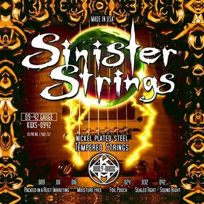 造韻樂器音響- JU-MUSIC -  Kerly Strings Sinister 冰火弦 KQXS-0942 (09-42) 美製 電吉他弦