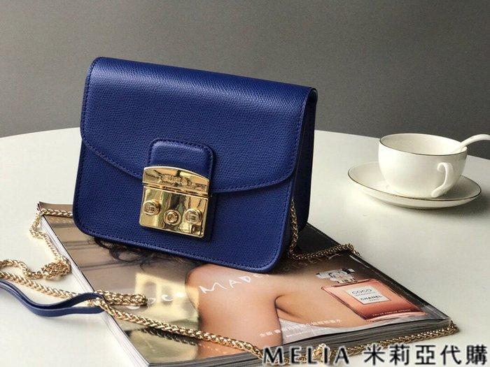 Melia 米莉亞代購 商城特價 數量有限 每日更新 FURLA 經典小方 淑女包 單肩斜背包 素色來襲 藍色