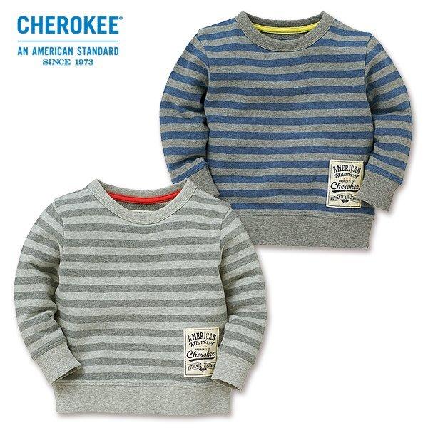 *小豆仔的屋Dou Dou House*日本進口休閒條紋上衣/T恤-灰/藍(現貨)