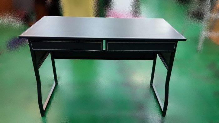 宏品二手家具館 全新馬鞍皮雙抽書桌 電腦桌 洽談桌 辦公桌 傢俱廣場拍賣客廳桌電視櫃
