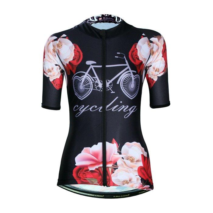 【ILPALADINO】競技型女士短袖車衣 :: 露紅煙紫