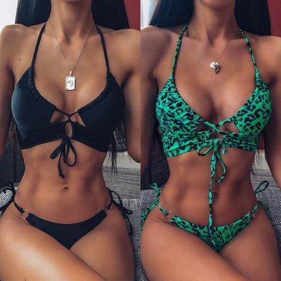 寶島小甜甜~Ms swimsuit bikini body suits leopard grain bikini female