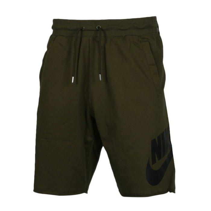 Nike NSW SHORT 大LOGO 棉質 墨綠 黑 短褲  836278395 -SPEEDKOBE-