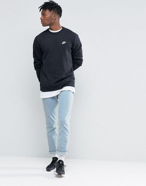 南◇2018 10月 Nike 黑藍灰色 內刷毛 大學TEE 衛衣804340-010 0
