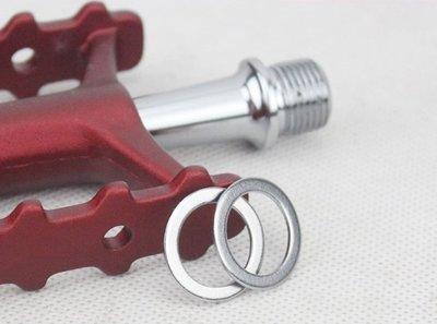 《F1單車》自行車腳踏板不鏽鋼軸承墊片 踏板墊片 踏板墊圈 曲柄腳踏墊片 防止螺紋磨損消除異音專用!「1個4元」