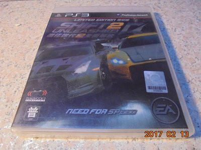 PS3 極速快感-進化世代2 全面解放 NFS Shift 2 Unleashed 亞英版 直購價700元 桃園《蝦米小