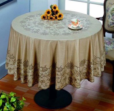*桌巾工坊* 178 cm 圓 防水桌巾 (共 4 色, 有大量現貨)  塑膠桌巾 圓形桌巾