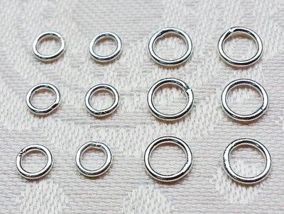 嗨,寶貝手創飾品工作室* 925純銀 DIY串珠配件☆4mm銀珠光珠 DIY銀配件定位珠 扣環(閉口較細款) 10個一組