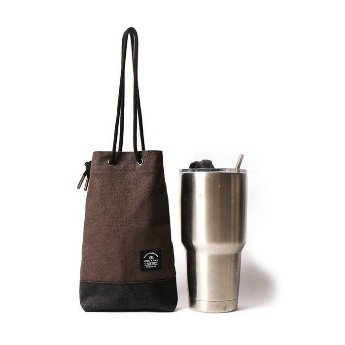 點子包【icleaXbag】飲料提袋 簡約飲料隨行袋  手搖 小物袋 小酒袋 無塑 可刻字 深灰色 DG31