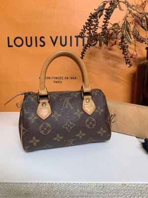 Louis Vuitton LV vintage mini speedy 迷你波士頓