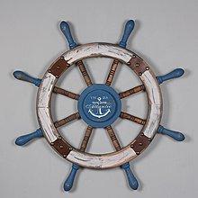 〖洋碼頭〗地中海風格復古木質舵手船舵創意壁掛牆飾牆上裝飾品輪船方向盤 hbs265
