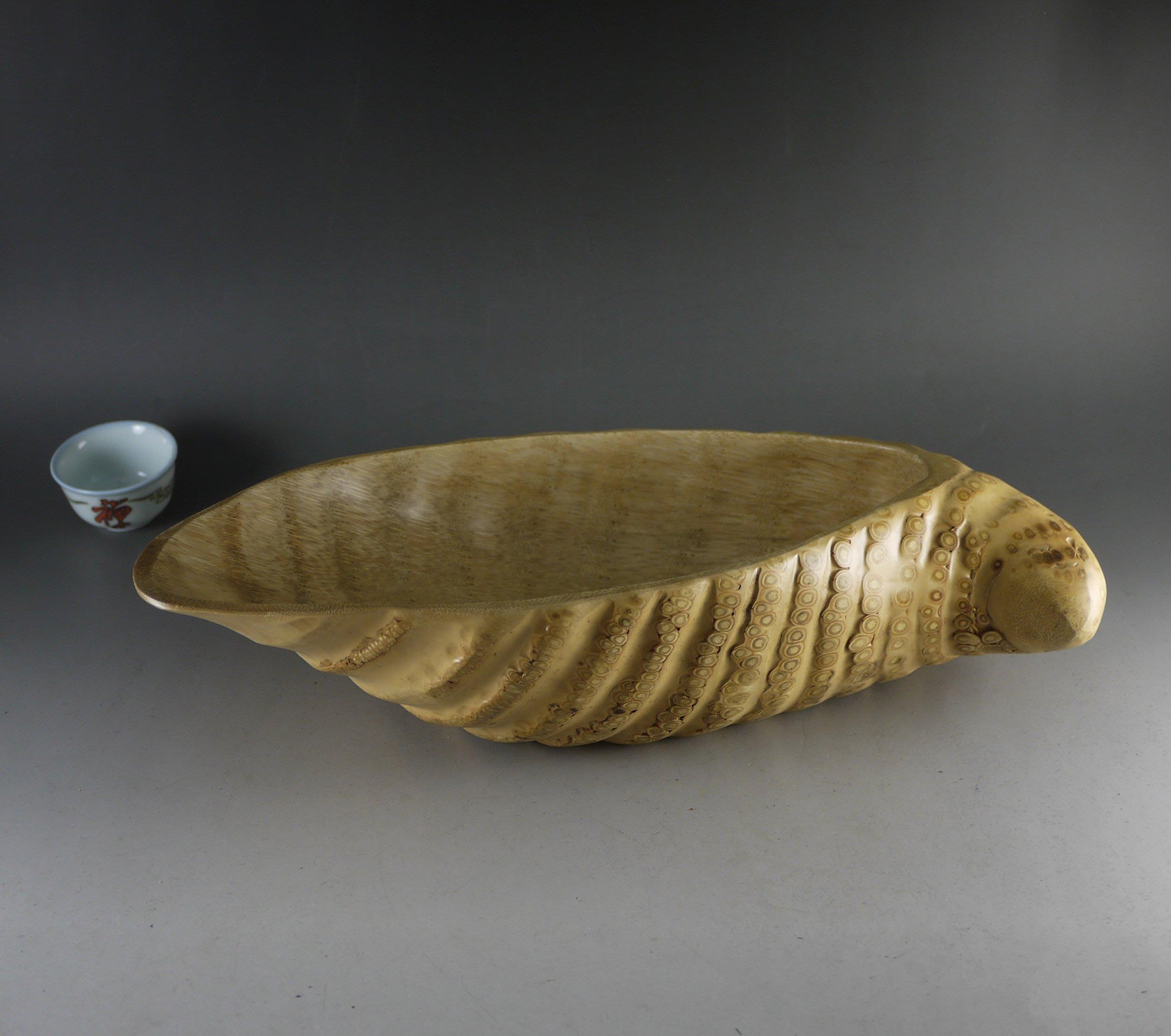 竹根雕果盤. 大茶荷. 花器.幹果盤 .聚寶盆 ...工藝擺設 - 竹制工藝品 B196