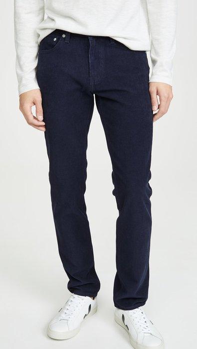 ◎美國代買◎levi's red tab 511燈心絨觸感材質深藍夜藍色燈心絨牛仔褲