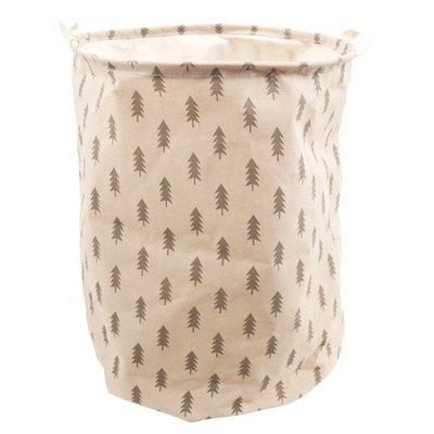 【TRENY直營】北歐風格洗衣籃40x50CM-小樹 分類收納袋 收納籃 收納箱 玩具收納 洗衣袋 置物籃 0059E