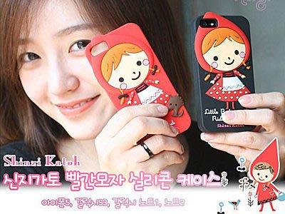 蝦靡龍美【KR145】日韓小紅帽手機套 軟殼 iPhone 4 4S 5 5S Samsung S4 S3 Note 2