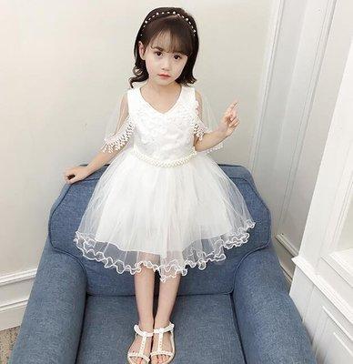 洋裝 女童公主連身裙 韓版兒童洋氣裙子蓬蓬紗裙 生日禮物—莎芭