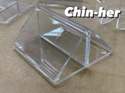 「 現貨 」透明3mm    防疫隔板底座 壓克力三角夾底座 壓克力板 立牌底座 三角錐座