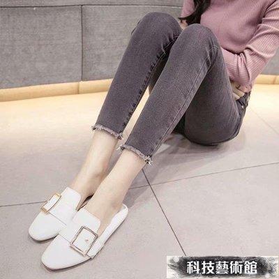 牛仔褲 灰色四季牛仔褲女春裝新款高腰緊身褲子修身顯瘦九分小腳褲 交換禮物 可開發票