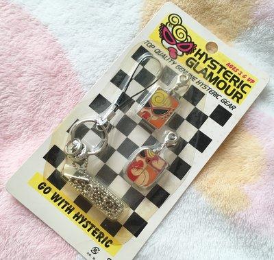 日本版 - Hysteric Glamour Mini Moblie Strap set 絕版 黑超B 奶咀B 可換扣 電話繩SET