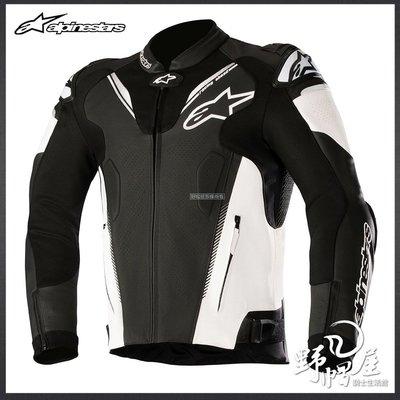 三重《野帽屋》義大利 Alpinestars ATEM V3 LEATHER JACKET A星 防摔衣 皮夾克。黑白