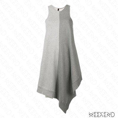 【WEEKEND】 UNRAVEL 拼接 不對稱 不規則裙襬 無袖 連身 背心裙 灰色 19春夏 折扣