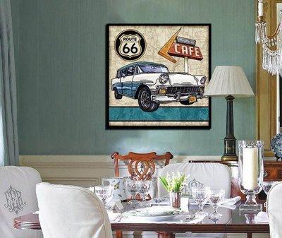 ART。DECO  美式複古汽車圖案裝飾畫 咖啡廳酒吧牆面裝飾品 美式客廳背景裝飾