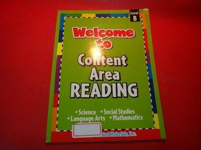 【愛悅二手書坊 22-05】Welcome to Content Area READING B