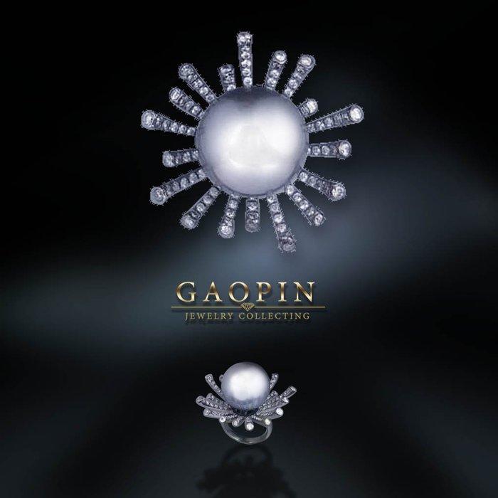 【高品珠寶】14.8mm南洋珍珠戒指 #3364