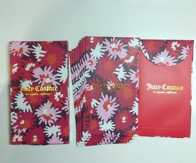 Juicy couture 利是封 8 個 1 pack. With box $498