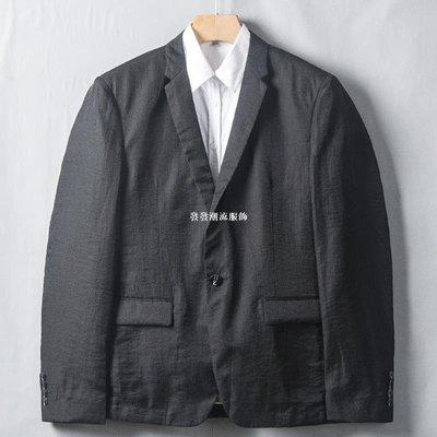 發發潮流服飾【大利家】亞麻如此柔滑 夏季亞麻超薄西服男休閒小西裝單西外套