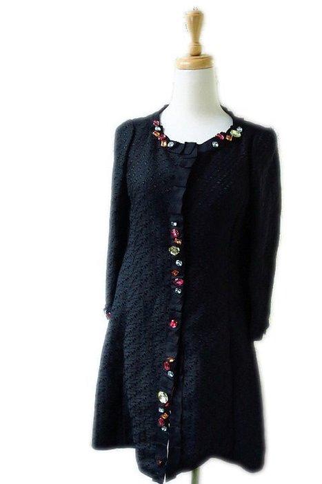 *Beauty*MOSCHINO黑色彩色大水鑽洋裝外套38號18900    元WE18