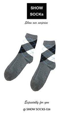 【3雙】S-SOCKs-學院格子系列-中長襪子 -男女  短襪 棉襪 女襪 男襪 長襪 船型襪 隱形襪 可愛襪 毛襪
