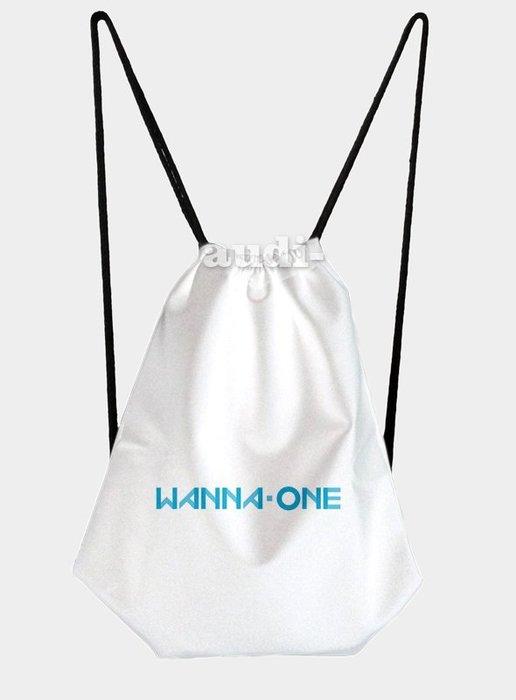 ~須 ~Wanna One 單面彩印束口包 後背包 束口背包 丹尼爾 賴冠霖雙肩後背包 中