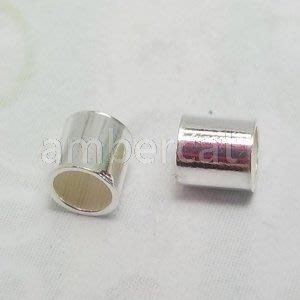琥珀貓銀飾DIY【925純銀材料配件】短管, 擋珠~3X2.8mm~一組2個