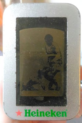 Rare HEINEKEN UEFA Champions League Lighter w/tin box 喜力 歐聯 歐冠 打火機 連金屬盒