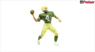 傑仲 (有發票) 博蘭 公司貨 Preiser 人物組 Football player 29007 HO