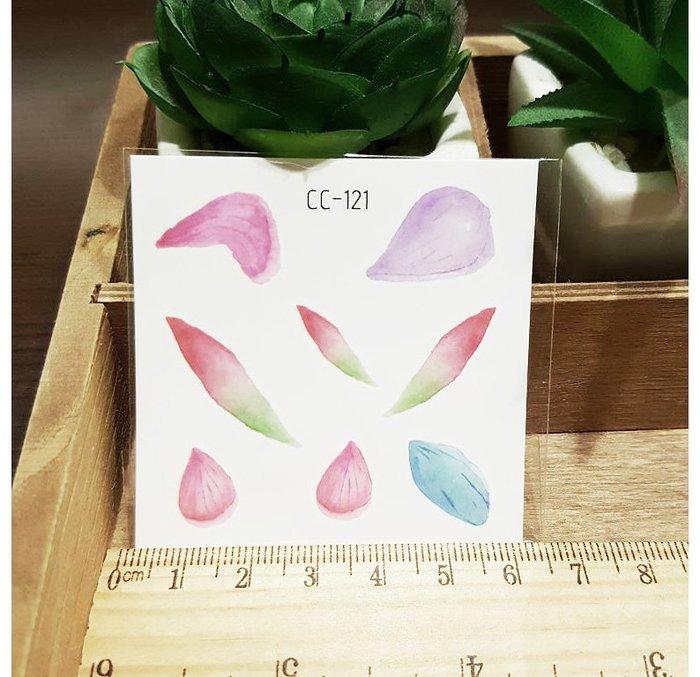 【萌古屋】花朵單圖CC-121 - 防水紋身貼紙刺青貼紙K38