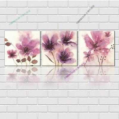 【40*40cm】【厚0.9cm】印象紅花-無框畫裝飾畫版畫客廳簡約家居餐廳臥室牆壁【280101_157】(1套價格)