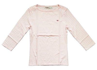 正品 Ralph Lauren RL Polo Jeans Co. 粉紅色條紋七分袖棉T