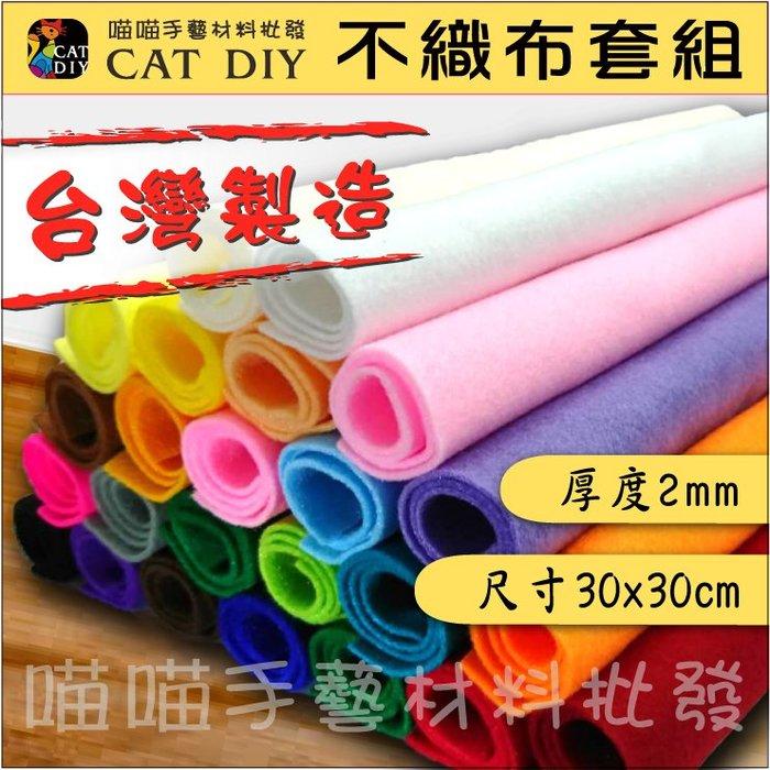【不織布套組】不織布 台灣製造 2組24色 厚度2mm 30x30cm 玩偶 布偶 拼布 包包 零錢包 吊飾 手工diy