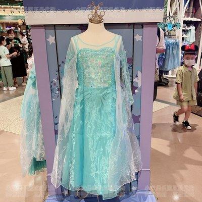 上海迪士尼代購艾莎公主裙兒童女孩子cosplay裙子連衣裙衣服