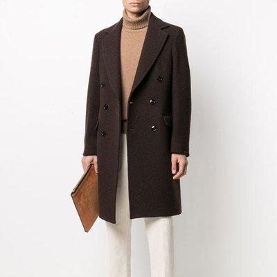 MP Massimo Piombo double-breasted wool coat 男雙排扣羊毛大衣 限時超低折扣代購中