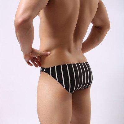 【鑽石娃娃】《黑白條紋》男士三角內褲 低腰性感時尚 舒適莫代爾面料 黑白條紋內褲[NK0116]