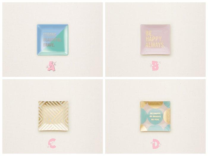 Maple麋鹿小舖 美國AE門市購買 可愛字母圖樣小玻璃盤/皂盤 *( 4款現貨 )