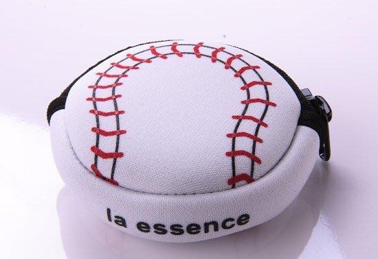 la essence 熱賣商品 LE-9606N 棒球-圓型零錢包(棒球) 潛水衣布.防震.抗摔.可水洗~
