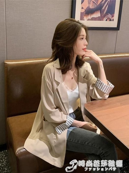 西裝外套夏季新款韓版一粒扣九分袖休閒薄款小西裝女chic網紅寬鬆外套 限時優惠