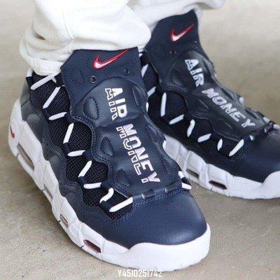 The Nike Air More Money Gets Patriotic AJ2998-400時尚休閒慢跑鞋