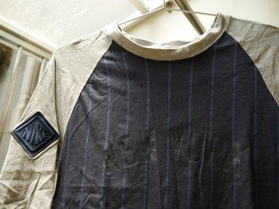 【NIKE】【運費半價】sportswear 灰藍搭配修身七分棒球T/NEW YORK/洋基配色/S號