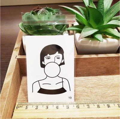 【萌古屋】百態人19單圖 - 男女防水紋身貼紙刺青貼紙 K43