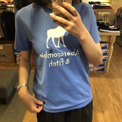 【蟹老闆】Abercrombie&Fitch A&F 青年版短袖 大鹿方體 水藍色
